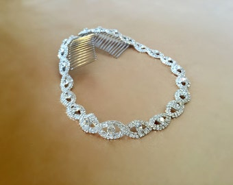 Bridal Headband, Wedding Headpiece, Rhinestone Headband, Hair Tiara, Prom Headband, Flower Girl, Bridesmaid, Hair Accessory