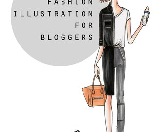 Custom Blogger Illustration,  Custom Portrait, Custom Fashion Illustration, Custom Fashion Art, Custom Gift, Digital File