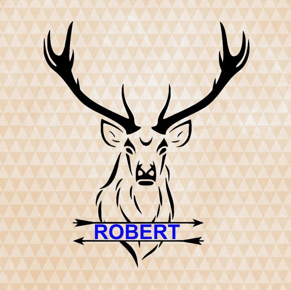 Download deer hunting svg split monogram buck head by OhThisDigitalFun