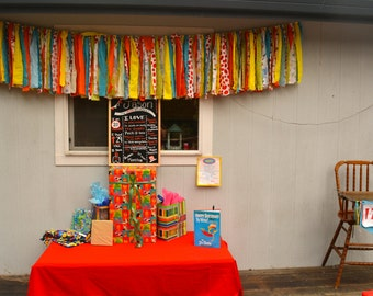 colorful fabric garland banner