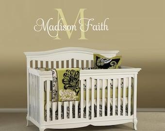 Girls Nursery Decals, Nursery Name Decal, Custom Name Decal, Monogram Decals, Girl Name Decals, Nursery Wall Decals, Girls Bedroom Decals