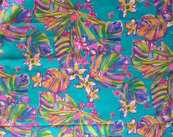 SUMMER HAZE Sea Blue Fabric 5x5 6x6  inch patches