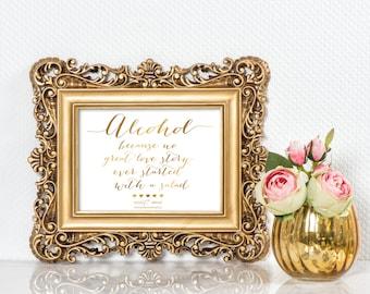 Custom Printable Wedding Reception - Bar Sign