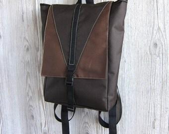 Mini Backpack, Small Backpack, Brown, Women's Backpack, Rucksack, Water Resistant Waterproof Backpack, Vegan Backpack