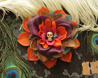 Dias los Muertos. Flower hair day of the dead, pin-up, Gothic, Halloween, Day of the dead Sugar skull.