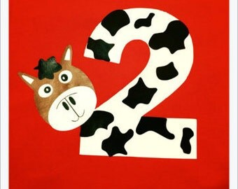 2 Birthday Shirt- Farm Animals