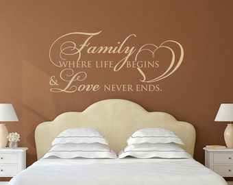 Family Wall Decal Etsy - Vinyl decals for walls etsy