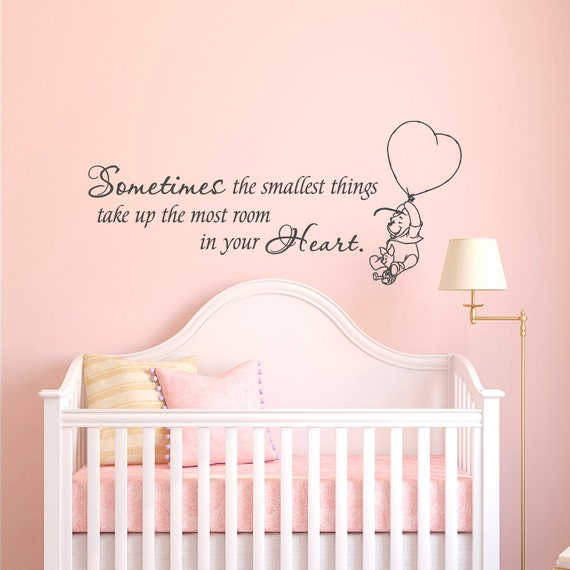winnie the pooh wall decal quote sometimes the smallest things winnie the pooh wall art quote sticker girl boy kids