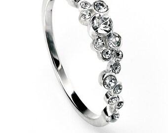 Clear Swarovski Cluster Ring