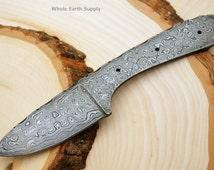 Damascus Skinning Knife Blank Blade Hunting Small Skinner
