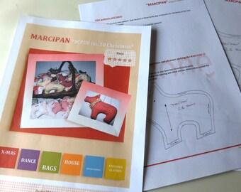 MARCIPAN pig PDF-pattern Christmas
