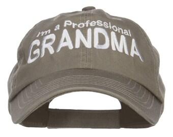 I'm a Professional Grandma Embroidered Low Cap