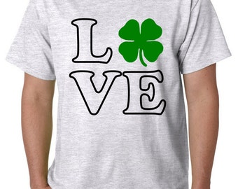 Love the Irish, Irish, Four Leaf Clover, St Patrick's Day shirt