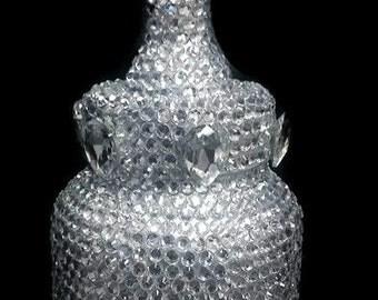Jeweled encrusted baby bottle bank