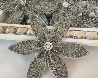 Sofreh Aghd Flower Esfand with beaded detail  | Persian Wedding Flower Esfand | Sofreh | Made in the USA
