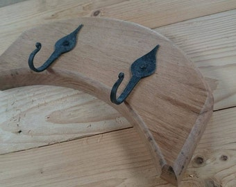 Wooden backed wall hooks