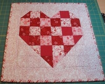 """Quilted Heart Wall Hanging 16""""x16"""""""