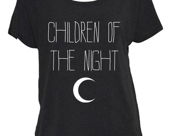 Children of the Night Off-The-Shoulder Shirt
