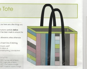 """Stand up Tote Kit - Finished 16"""" x 16"""" x 4"""""""