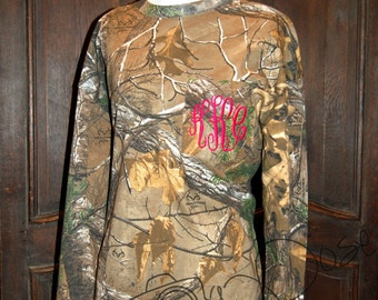 Monogrammed Real Tree Camo Long Sleeve Pocket Shirt