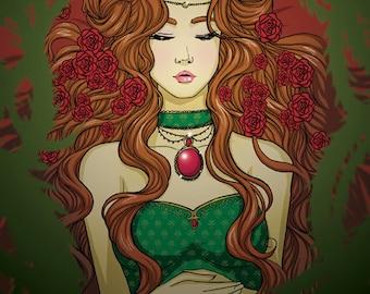 Sleeping Beauty- Original illustration print