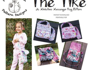 The Tike-Miniature Messenger Bag PDF Sewing Pattern