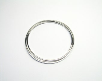 Bangle round 3 set Silver 925 Bangle bracelets