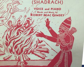 Sheet music, score, arrangement, 1937 Shadrack sheet music, choir, chorus,  FREE SHIPPING