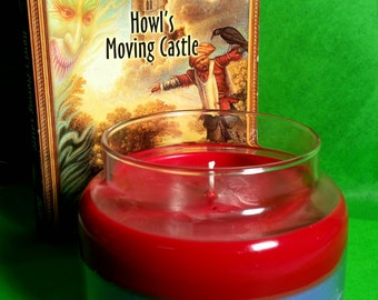 Howl's Moving Castle (book/movie) Inspired Scented Layered Soy Candle (Free U.S. Shipping!)