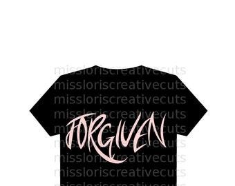 Forgiven SVG Cut file  Cricut explore filescrapbook vinyl decal wood sign cricut cameo Commercial use
