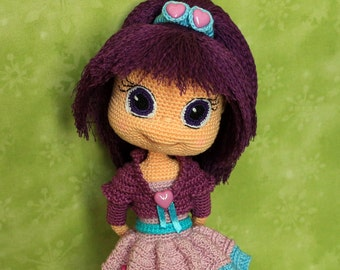 Plum Pudding - Handmade crochet doll