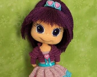 Plum Pudding - Handmade crochet doll