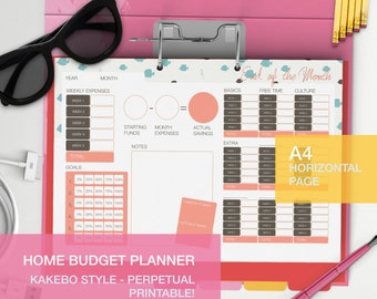 Monthly budget planner Kakebo style without dates