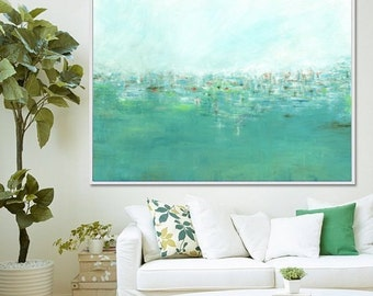 Abstract Art Print, Abstract Painting, Seascape, Abstract Print, Modern Art, Giclee Print, Green Abstract, Canvas Print, Contemporary Art