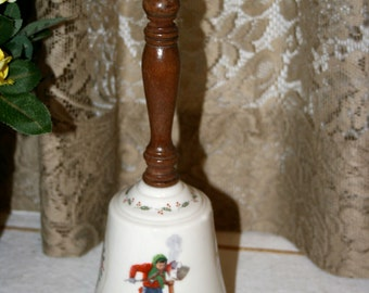 1977 Norman Rockwell Bell by Gorham//Chilling Chore//Christmas Bell//Vintage Norman Rockwell Bell