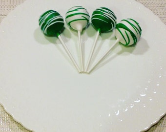 DAIRY FREE Cake Pops Solid party cake pops with drizzle stripes made to order with high quality premium ingredients