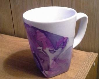 Nail Polish Ceramic Mug - White and Purple Mug - Coffee Mug