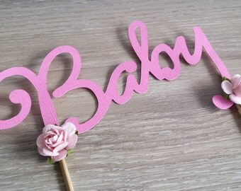 BABY cake topper, baby shower Cake Topper, gender reveal, It's a girl, Baby Topper
