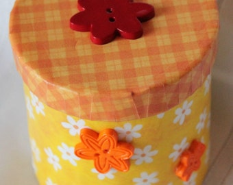 Floral Round Box