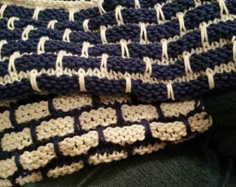 Handknit 100% Cotton Dishcloth Set of 2