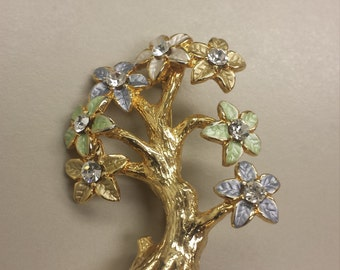 Costume Jewelry Tree Brooch