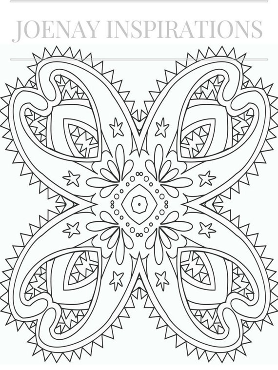 Adult Coloring Book, Printable Coloring Pages, Coloring Pages, Coloring Book for Adults, Instant Download Magnificent Mandalas 2 page 6