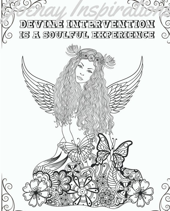 Adult Coloring Book Printable Coloring Pages, Coloring Pages, Coloring Book for Adults Instant Download Inspiration and Affirmation 2 page 7