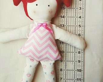 Fabric Felt Hair Softie Doll