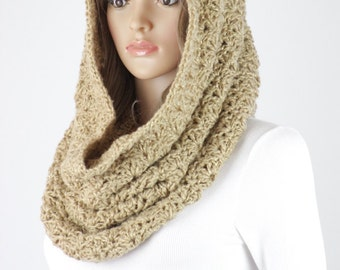 Crochet Snood Scarf Pattern - Vienna Infinity Scarf Hood Pattern #36 - Crochet Scarf PATTERN - Digital Download - Not a Physical Scarf!
