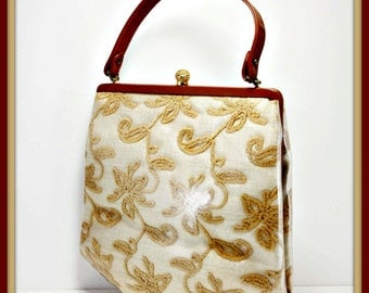 Vintage Lewis Handbag,Vintage Tapestry Handbag,Vintage Handbag,Vintage Lewis Purse,Vintage Purse,Vintage Lewis Pocketbook,Vintage Pocketbook