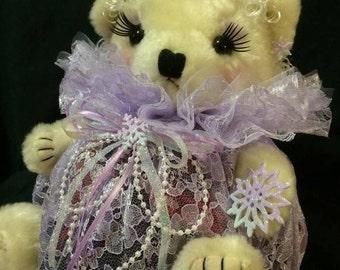 Snowflake Lavender Lilac Potpourri Bear