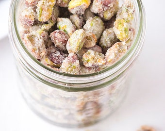Candied Pistachio Crystals for Snacking Baking or Topping 1/2 pound