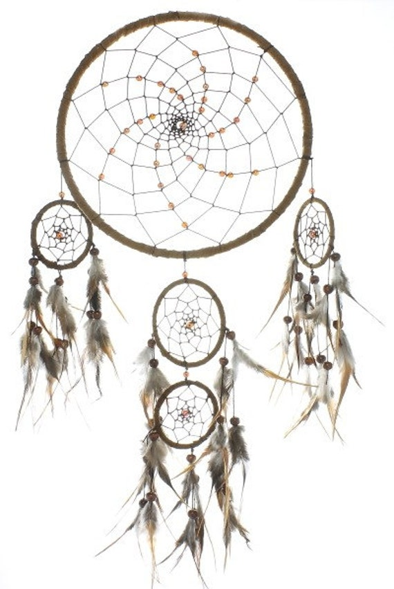 Large Brown Cosmic Dream Catcher, Dreamcatcher, Wall Hanging, Home Decor
