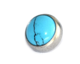 Cabochon Faux Turquoise Flat Attachment, post not included